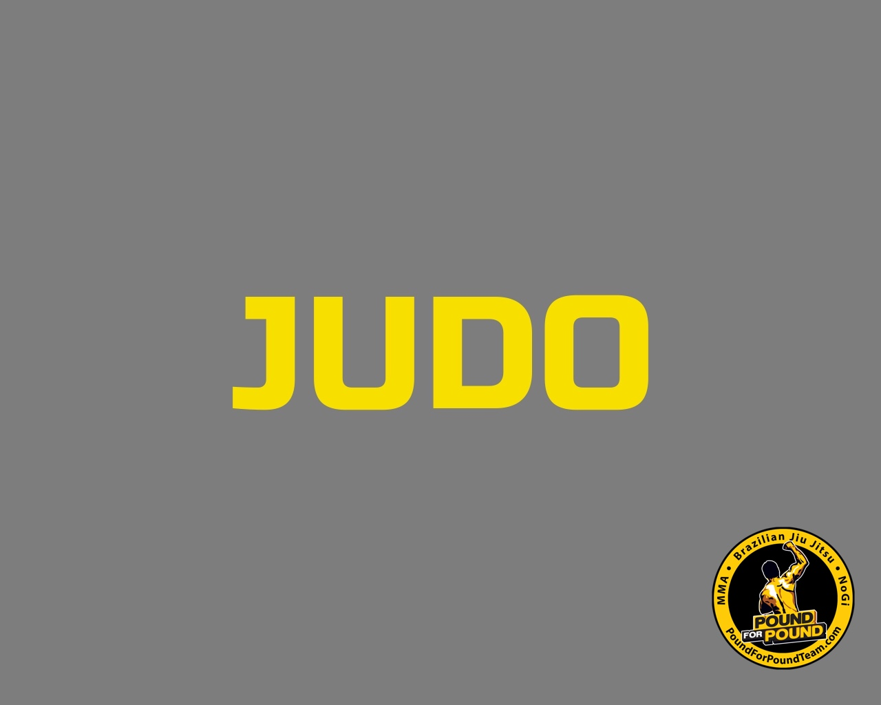 Judo im Pound for Pound Gym